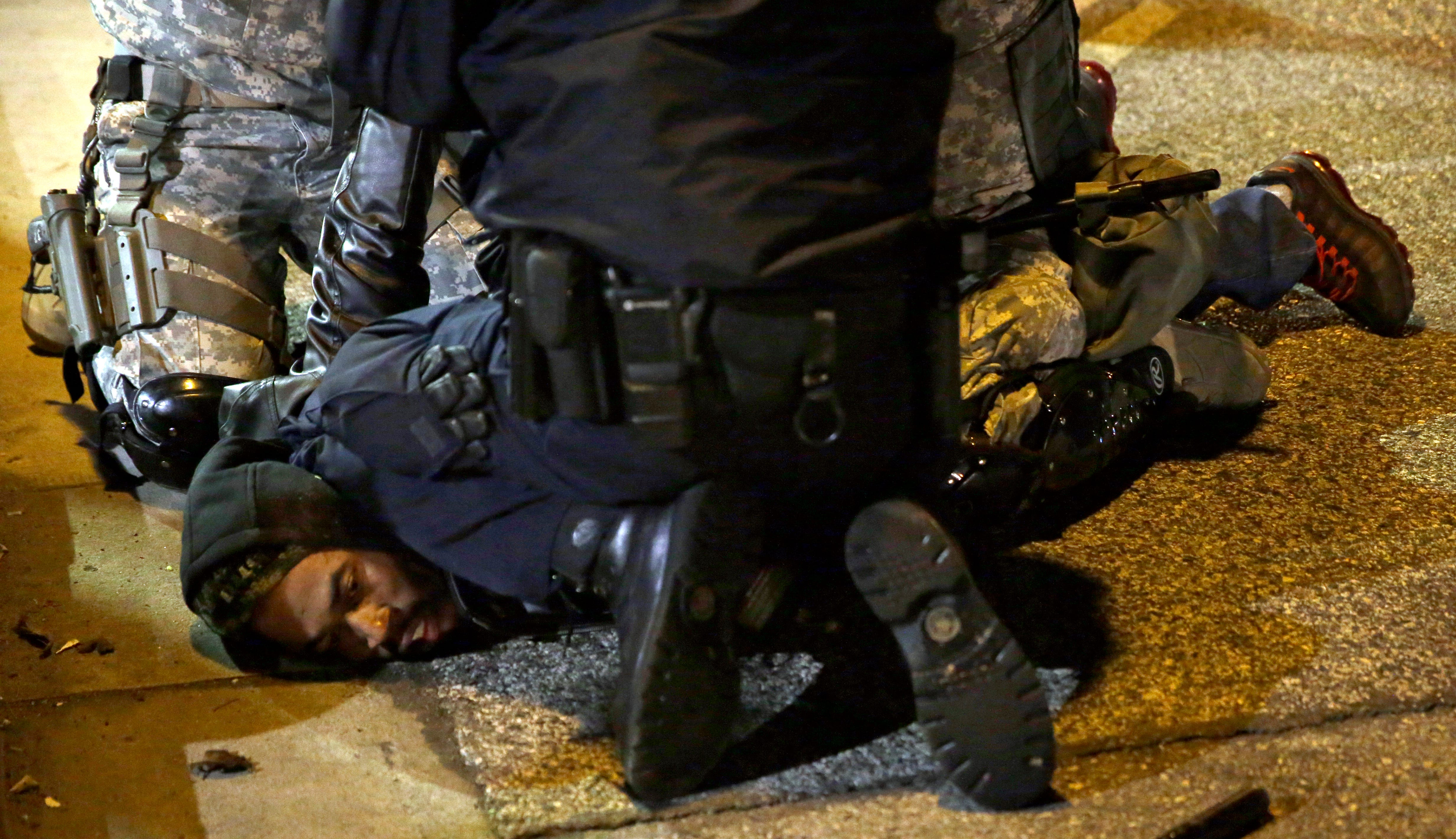MacNore Cameron was arrested on Nov. 28, 2014, while protesting in Ferguson, Missouri, and restrained using the same knee-to-neck hold that killed Minneapolis resident George Floyd.
