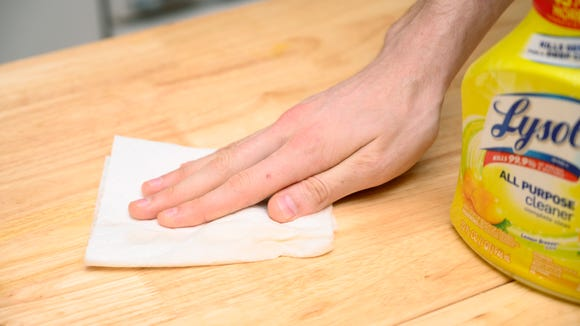 Make sure the surfaces you use are clean.