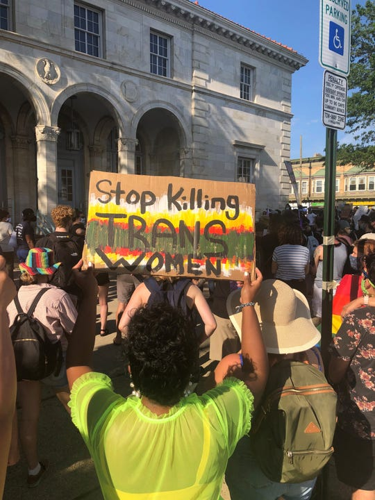 Asbury Park held a rally for Black Trans and Queer Lives on Friday.