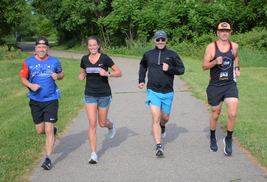 BC Fund Racers is a  running group that looks to raise money for good causes and was created by locals, from left, Corey LaGro, Anna Stinson, Scott Frank and Jason Moore.