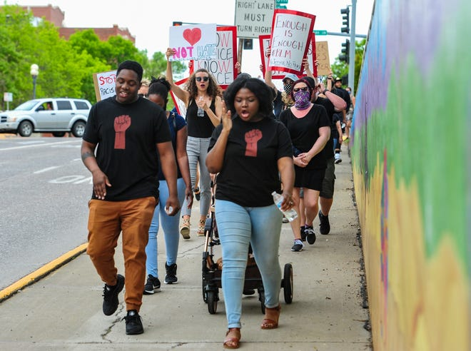 Great Falls holds its third Black Lives Matter rally and march on Friday, June 12, 2020.