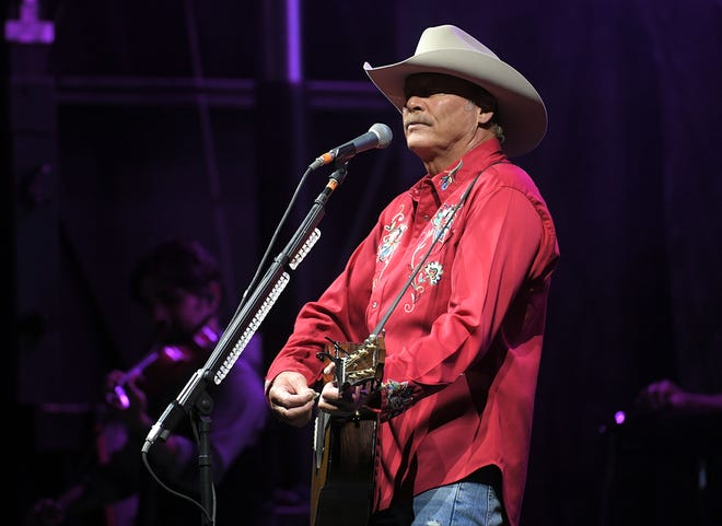"Alan Jackson performs to 2,000 cars in rural in Cullman, AL on Friday, June 12, 2020. The outdoor concert was one of the biggest ""drive-in"" events since the COVID-19 pandemic."