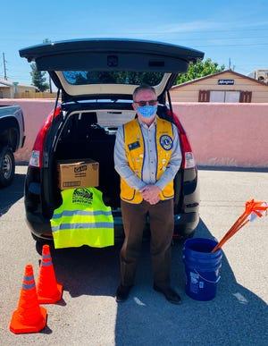 Paul Thomason picks up supplies for Adopt-a-Highway in La Mesa.