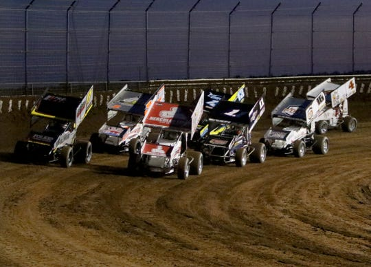 Ollie's Bargain Outlet All Star Circuit of Champions raced with the Monarch Outlaw Sprint Nationals Friday, June 12, 2020, at Monarch Motor Speedway.