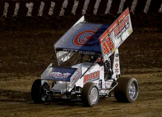 Danny Dietrich races in the Ollie's Bargain Outlet All Star Circuit of Champions with the Monarch Outlaw Sprint Nationals Friday, June 12, 2020, at Monarch Motor Speedway.
