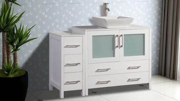 This vanity has plenty of storage—and it's on sale.