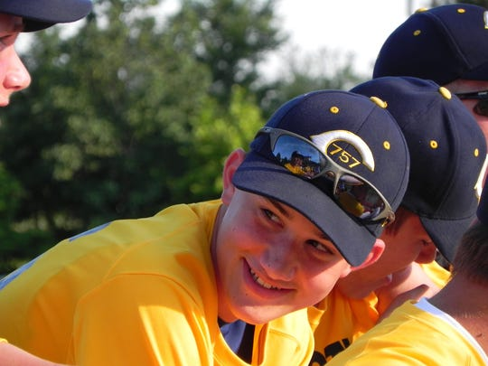 Eli Kunkel smiles as he enjoys  a baseball trip to Washington D.C.
