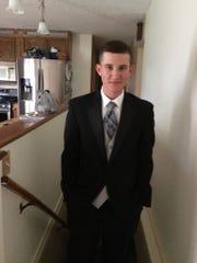 Eli Kunkel gets ready for his senior prom in 2015.