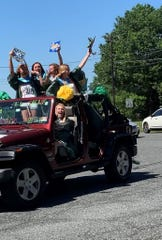 On June 11 - the day that would have been North Hunterdon High School's class of 2020 traditional graduation ceremony on Singley Field - downtown Clinton'ssidewalks and street cornerswere packed with people cheering, waving, ringing cow bells and holding congratulatory signs as seniors drove in a car parade through Main Streetonto the high school.