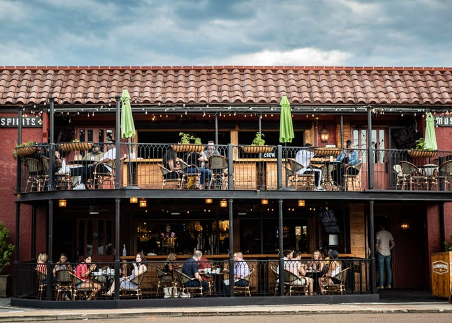 Lafayettes in Memphis with outdoor seating for diners, one of our picks for top outdoor patios on Saturday, June 14, 2020.