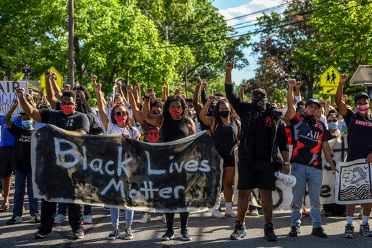 Black Lives Matter Morristown and Wind of the Spirit kick off their Summer Series with a walk from Madison to Florham Park on Saturday June 13, 2020.