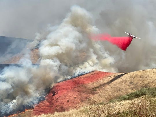 The Drum Fire west of Buellton in Santa Barbara County prompted evacuations there on June 14, 2020.