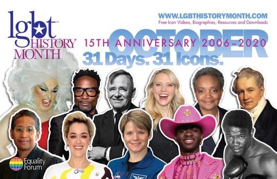 Meet Equality Forum's 2020 LGBT History Month idols.