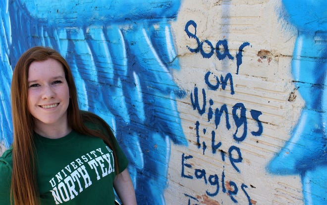 Breanna Hodges is moving on from Abilene High School to the University of North Texas to continue her education in the fall. She is glad she still will be an Eagle.