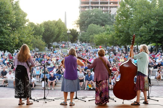 Honey Holler performs at Shindig on the Green at Pack Square Park August 19, 2017.