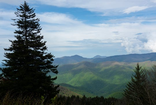 The view of the mountains from an overlook on the Blue Ridge Parkway in Western North Carolina.