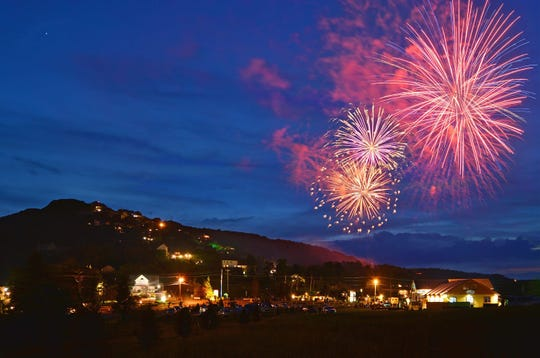 The Beech Mountain fireworks display on the Fourth of July.
