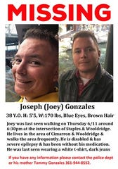 "A Corpus Christi family is searching for 38-year-old Joseph ""Joey"" Gonzales. He was last seen Thursday evening."