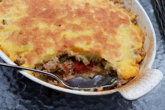 Ground Turkey Tamale Pie