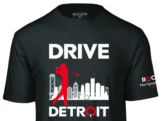 """This """"Drive Detroit"""" T-shirt will be among the new merchandise available this year."""