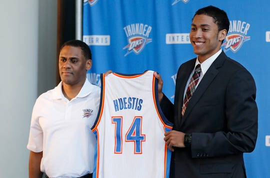 The Pistons are reportedly honing in on Oklahoma City Thunder's Troy Weaver, left, for the general manager role.