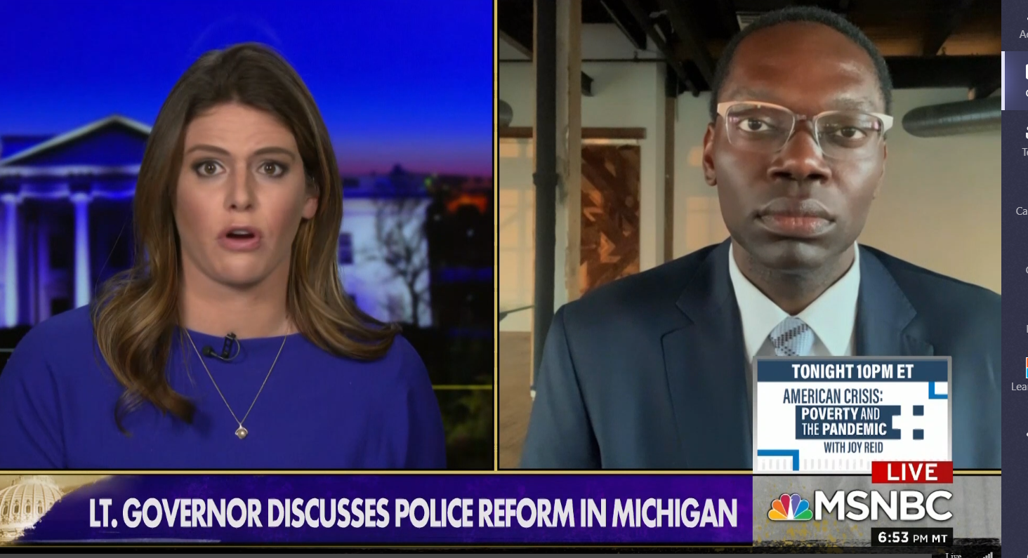 Gilchrist Discusses Police Reform In Michigan On Msnbc