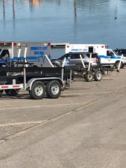 The Second Street Boat Ramp is closed after a fishing accident Saturday night. One person is still missing. Search and rescue crews travel the Ohio River trying to locate the missing man. (June 15, 2020).