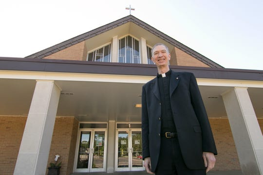 Rev. Dave Speicher, shown Monday, June 15, 2020, is leaving St. Joseph Catholic Church in Howell after 11 years of service to move to St. Jude parish in DeWitt.