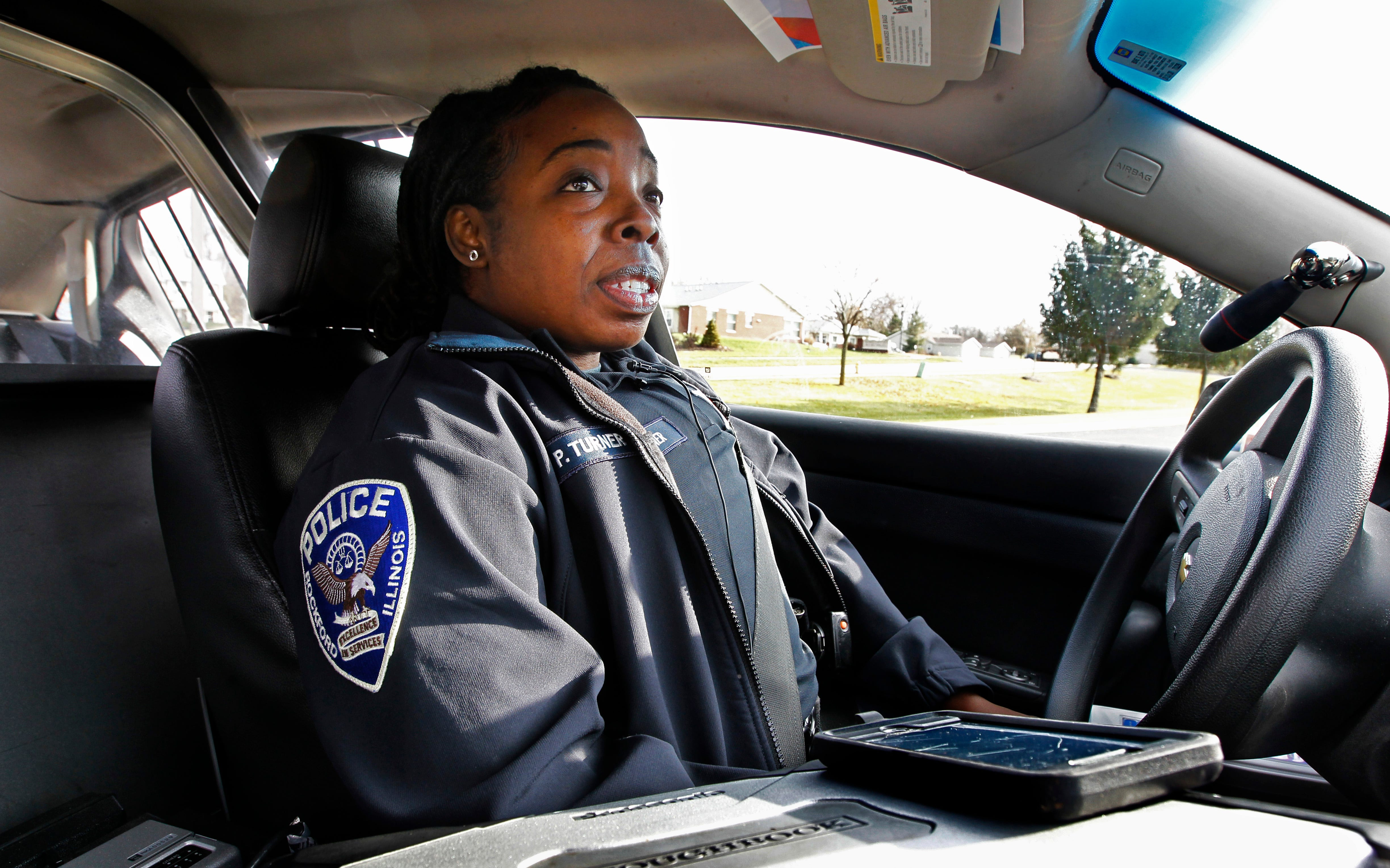 Rockford Police Officer Patrice Turner patrols the community where she also lives.