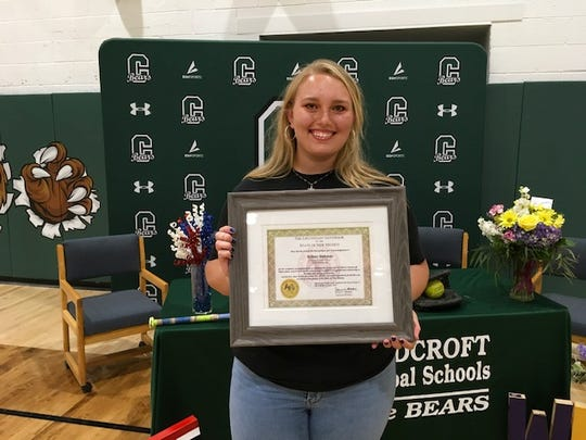 Britney Hickman, Cloudcroft High School's Salutatorian, signed a letter of intent to play softball at Western New Mexico University.