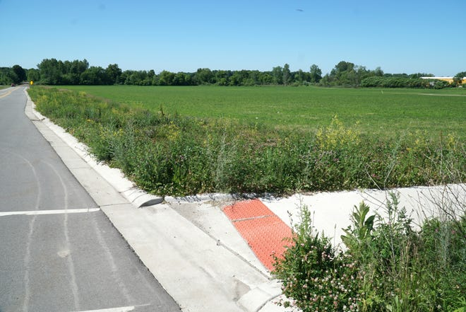 The Walbridge company plans to construct a 280,000-square-foot industrial building on 22 acres at this southwest corner of Grand River and South Hill in New Hudson.