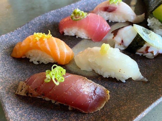 Nigiri sushi from Kaizen in Phoenix.