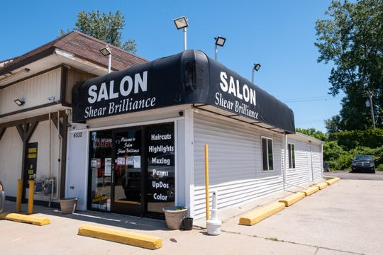 Charles Darghali has owned Salon Shear Brilliance in Fort Gratiot for around 12 years. He was able to open his salon for the first time in months Monday after restrictions from Gov. Gretchen Whitmer's stay home order begin to ease.