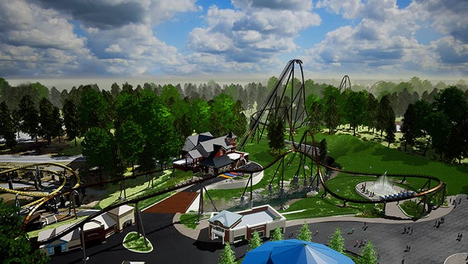 """Hersheypark will debut Candymonium, """"the tallest, fastest, longest and sweetest coaster at Hersheypark,"""" this summer."""
