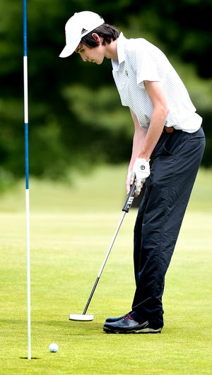 Central York's Cole Sevick, seen here in a file photo, helped the Panthers win a York-Adams Division I title this season. He shot 78 on Monday at Heritage Hills.