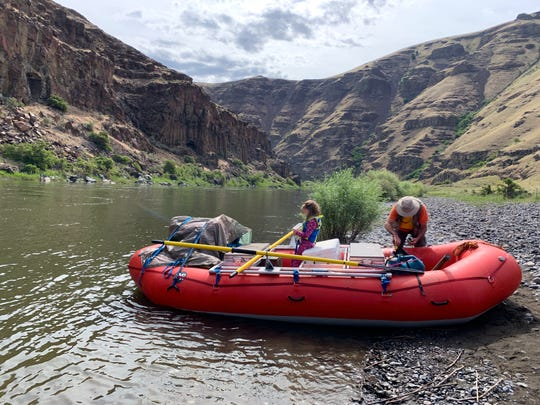 Rafting is one of the ways to camp and boat down the John Day River.