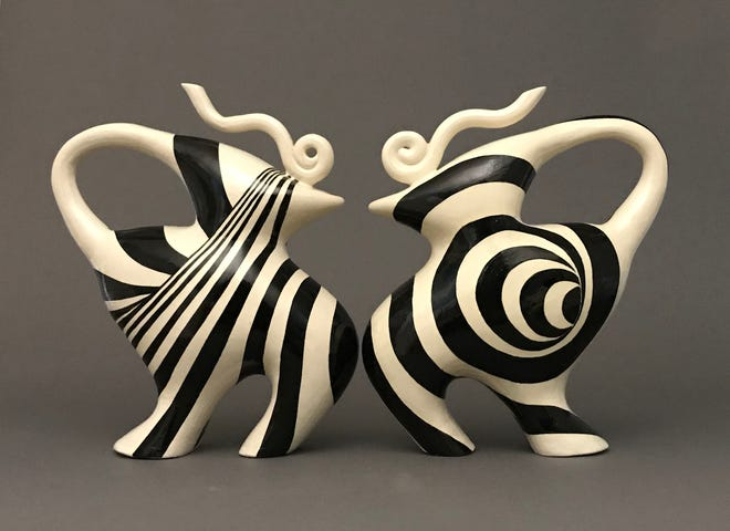 """""""Conversation VIII,"""" a piece by Sooyeon Kim, is one of 100 pieces in the San Angelo National Ceramics Competition, which can be viewed at the museum or online."""