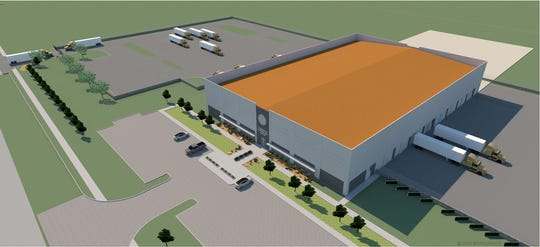The Chamber is working with BYSP Architects to create virtual spec buildings that show the potential for properties in the Industrial Business Park in Wichita Falls. rendering shows a 60,000-square foot property with the option to expand to 120,000 sq. ft.
