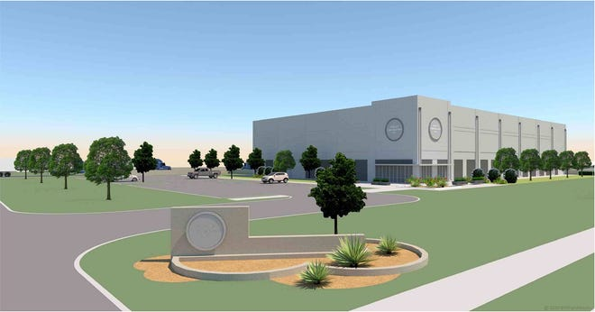 A 30,000-square foot property virtual spec building that was created by BYSP Architects can be used by the Wichita Falls Chamber of Commerce to attract potential new businesses. The chamber can provide complete information about the build including construction costs and timelines.