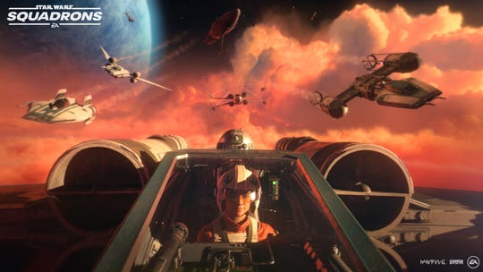 """""""Star Wars: Squadrons,"""" expected to release Oct. 2, for PlayStation 4, Xbox One and PCs, will let players take flight in five vs. five multiplayer dogfights and progress in a story as a pilot for the New Republic or the Empire."""