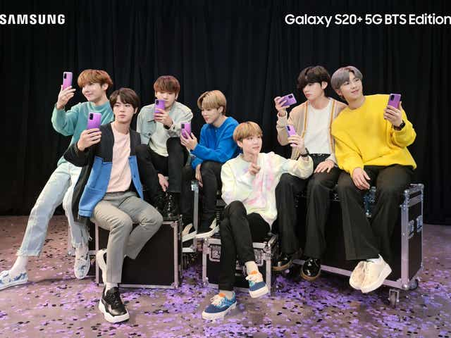 Samsung Galaxy S20 Plus Bts Edition Boy Band Inspired Purple Phone