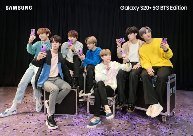 Samsung just released new phones inspired by the South Korean boy band BTS.
