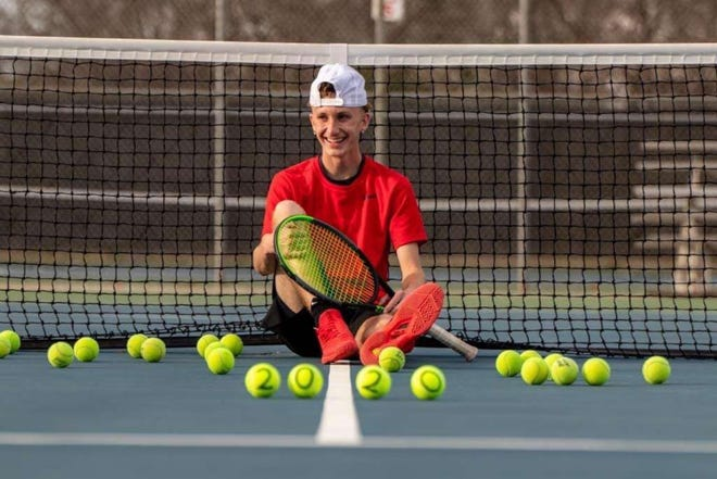 Jacob Whitwell began playing tennis at Ardmore in his freshman year. He is finished  his senior year as a member of the All-State team.