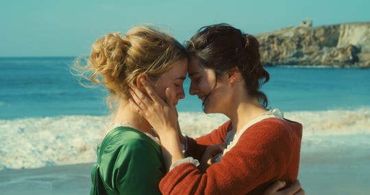 """Adèle Haenel, left and Noémie Merlant in a scene from Céline Sciamma's """"Portrait of a Lady on Fire."""""""