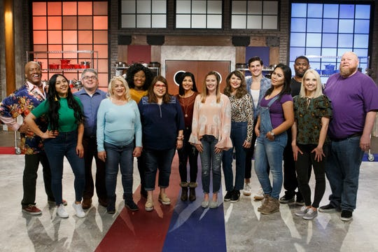 "Darian Barnes of Rahway (third from right) and fellow contestants from Season 20 of Food Network's ""Worst Cooks in America."""