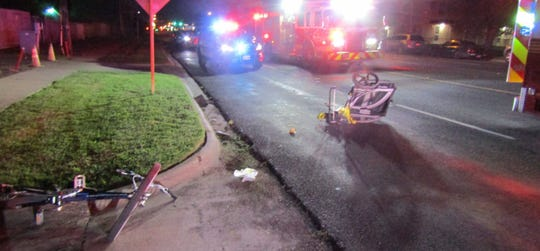 Corpus Christi police are seeking the public's help in finding a suspect in a hit and run involving two people on a bicycle in the 3700 block of Ayers Street on June 3, 2020.