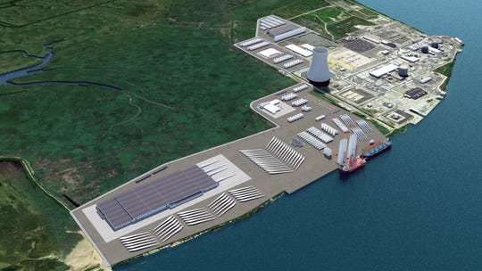 Rendering of the planned New Jersey Wind Port project planned for Salem County.