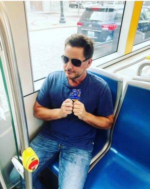Actor and activist Emilio Estevez on the Cincinnati streetcar