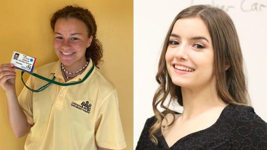Leticia Da Silva (left) and Haley Resta (right) are the winners of the Marisa Tufaro Memorial Community Service Scholarships