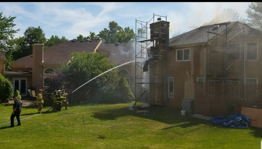 A home on Kingsland Circle in South Brunswick was damaged by fire Monday afternoon, police said.